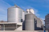 Storage facility cereals, and biogas production — Stock Photo