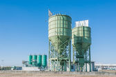 Silos for the production of cement — Stock Photo