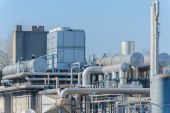 Chemical complex, detail — Stock Photo