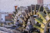 Mill,shovel by wood — Stockfoto