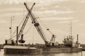Small dredge marine — Stock Photo