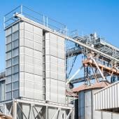 存储设施,粮油生物气体生产 — 图库照片
