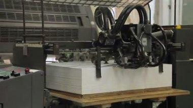 Printing press machine — Stock Video