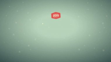 Merry cristmas and happy new year 2015 Animation — Stock Video