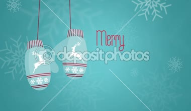 Merry cristmas and happy new year 2015 Animation — Stockvideo
