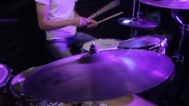 Drums kick plate — Stock Video