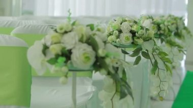 Decorated hall for wedding ceremony — Video Stock