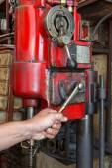 Handle machining surface of automotive part — Stock Photo