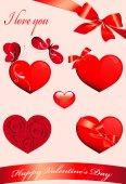 Love hearts, — Stock Vector