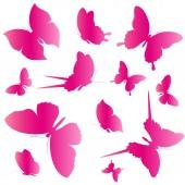 Schmetterlinge-design — Stockvektor