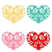 Love hjärtan, — Stockvektor