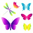 Many different butterflies flying — Stock Vector #68591345
