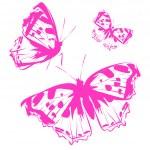 Beautiful abstract butterflies design — Stock Vector #69026149