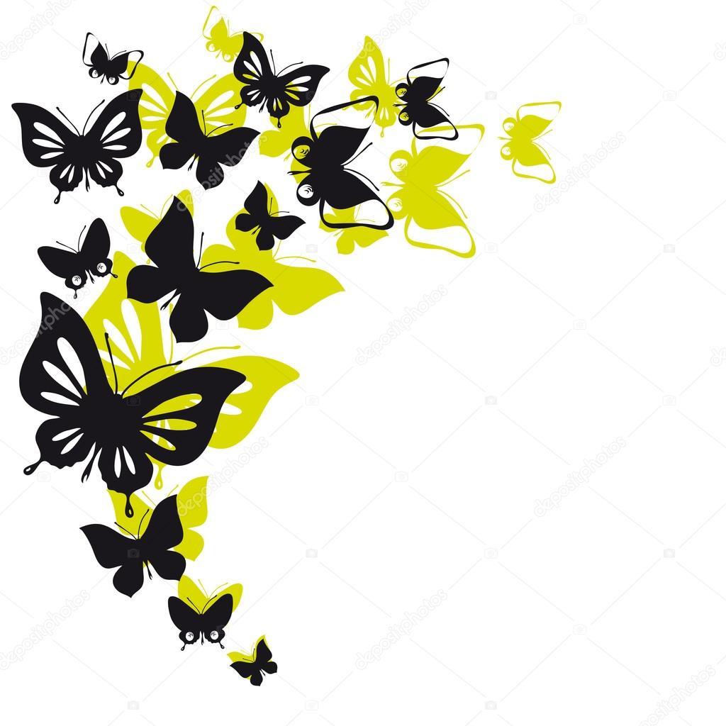 Бабочки для интерьера шаблоны