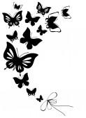 Butterflies design — Stock Photo