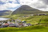 Part of the city of Klaksvik, Faroe Islands, North Atlantic3 — Stock Photo