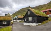 Turf house village Faroe Island, North Atlantic — Stock Photo