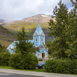Small church in Seydisfjordur Iceland — Stock Photo #55007067