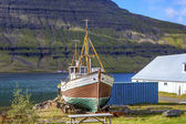 Old fishing boat in Iceland — 图库照片