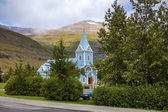 Small church in Seydisfjordur Iceland — Stock Photo