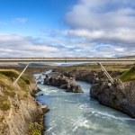 Bridge at Godafoss in Iceland — Stock Photo #55532527