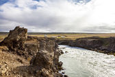 Landscape near Godafoss warerfall in Iceland3 — Stock Photo