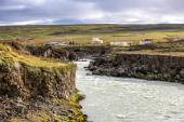 Landscape near Godafoss warerfall in Iceland — Stock Photo