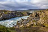 Landscape near Godafoss warerfall in Iceland2 — Stock Photo
