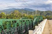 Mae hong son, Tayland pai Nehri üzerinde tarihi köprü — Stok fotoğraf