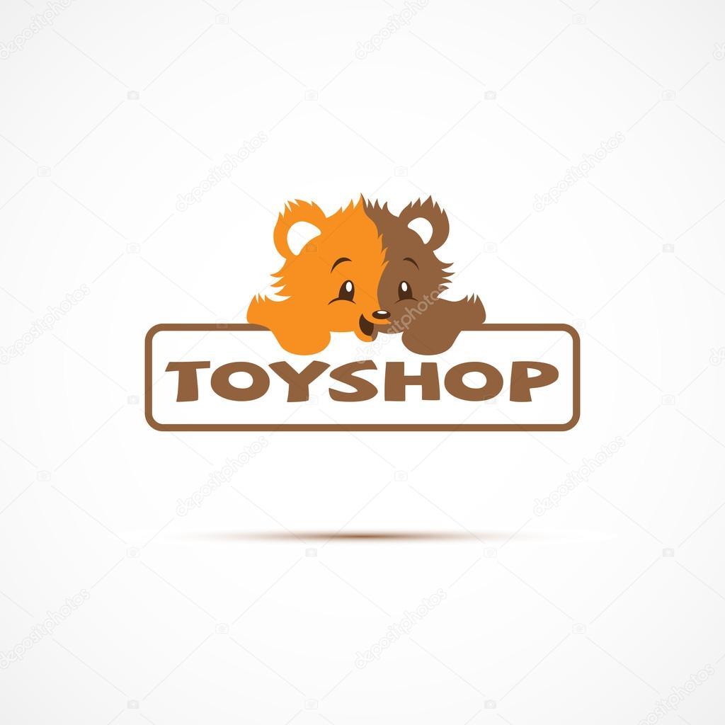 Toy Store Logo : Logotipo para tienda de juguetes — vector stock