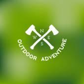 Outdoor logo — Stock Vector