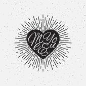 Sparkling heart lettering — Stock Vector