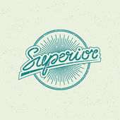 Superior label — Stock Vector