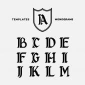 Monograms design templates — Stock Vector
