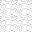 Snake skin texture. Seamless pattern black and white background. — Stock Vector #52605053