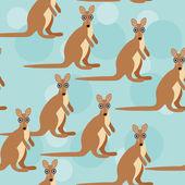 Seamless pattern with kangaroo animal — Stock Vector