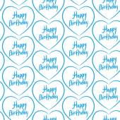 Seamless pattern with blue hearts on a white background. Happy b — Stock Vector