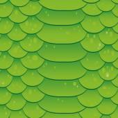 Snake skin texture. Seamless pattern green background. Vector — Stock Vector