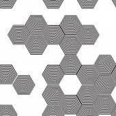 Volumetric 3D pyramid seamless pattern. — Stock Vector