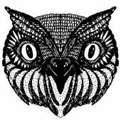 Owl ' s head. — Vecteur