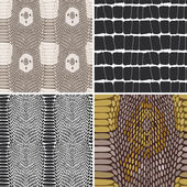 Snake skin texture set. Seamless pattern. Vector — Stock Vector
