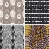 Snake skin texture set. Seamless pattern. Vector — Stock Vector