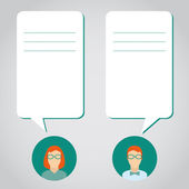 People icons with dialog speech bubbles. conversation between a — Stock Vector