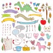 Set of funny colored sketches — Stock Vector #57133651