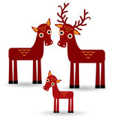 Deer and fawn — Stock Vector