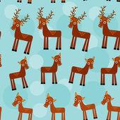 Deer. Set of funny animals seamless pattern — Vecteur