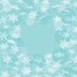 Blue winter background with snowflakes. Vector — Stock Vector #57228725