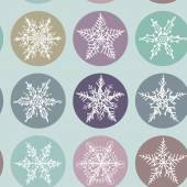 Snowflake winter set icon collection seamless pattern. Vector — Stock Vector