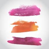 покрашенный розово-оранжевый акварельный фон. акварельное мытье. акварельный фон ломбера. вектор — Cтоковый вектор