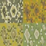 Set 4 snake skin texture. Seamless pattern python. Vector — Stock Vector #62236905